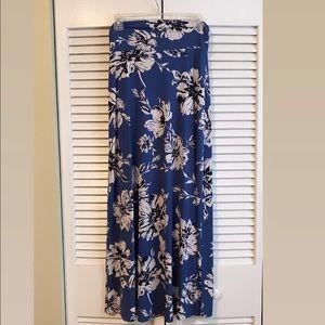 Blue, navy maxi skirt!